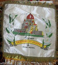 Shrine Oratoire St-Joseph du Mont Royal Satin Pillow Case Cover Mid 1900's