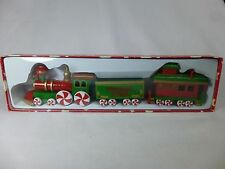 1992 Wooden Christmas Train The Peppermint Express By Dakin