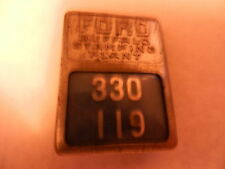 "FORD BUFFALO STAMPING PLANT BADGE NO.330 119, PRE-OWNED, 1.5 X 1 1/8"" ORIGINAL"