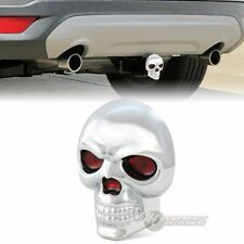 "Bully SKULL Hitch Cover 2""/1.25"" Rear Trailer Towing Receiver LED Brake Lights"