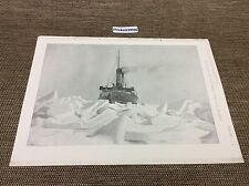 1899 Antique Architects print - ice breaker in action  , naval print ,