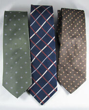Silk Designer Ties Lot of 3 Possibility Ties Neckties