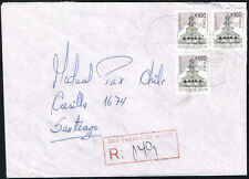 3060 CHILE REGISTERED COVER 1996 SAN FABIAN DE ALICO - SANTIAGO