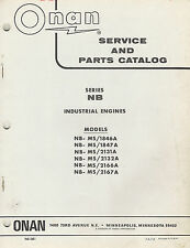 ONAN NB  INDUSTRIAL ENGINES SERVICE and PARTS MANUAL 1972  940-1001
