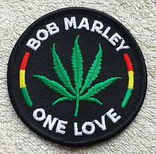 BOB MARLEY LEAF PATCH Cloth Badge/Emblem/Insignia Biker Jacket Rasta One Love
