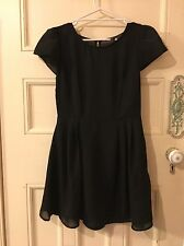 Little Black Chiffon Skater Dress Forever 21 Size M
