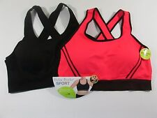 Delta Burke Seamless Sports Bra Size 3X 42D - 44DD Set of 2