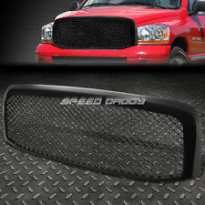 GLOSSY BLACK ABS MESHED FRONT UPPER BUMPER GRILL GUARD FOR 06-09 DODGE RAM