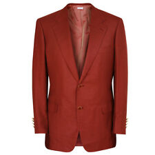 BRIONI $4,995 cranberry red cashmere silk blazer Palatino jacket 40/50 R NEW