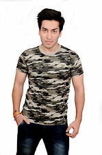 Culture Camouflage Mens Army T-shirt 100% Cotton