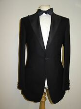 NEW & LINGWOOD - BLACK WOOL & CASHMERE DINNER SUIT - 44 Reg - W38 L36 -BRAND NEW