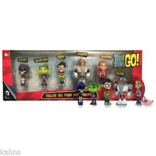 "Teen Titans Go Action Figure (6-Pack)  2"" Robin Raven Cyborg Made by Jazwares"