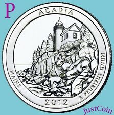 2012-P ACADIA NATIONAL PARK (MAINE) ATB QUARTER FROM MINT ROLL UNCIRCULATED
