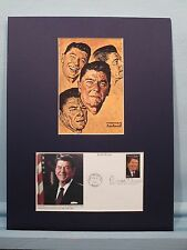 Ronald Reagan as depicted by Norman Rockwell & the First day Cover of his stamp