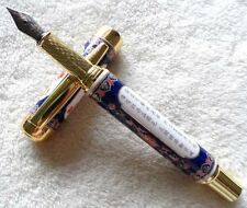 Beijing Cloisonne Blue And White Porcelain High Quality Medium Nib Fountain Pen