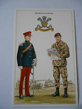 MILITARY POSTCARD-THE ROYAL HUSSARS BY DOUGLAS N ANDERSON