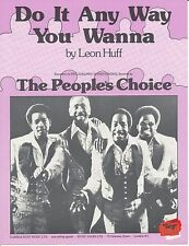 Do It Any Way You Wanna - The People's Choice - 1975 Sheet Music