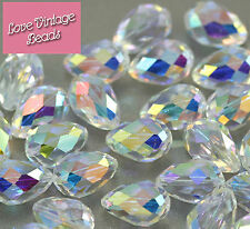 VALUE! 2x Swarovski Crystal AB 5500 Bead Pear Large Drop 18mmx12mm *MINOR FLAWS*