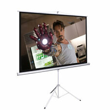 """100"""" Tripod Portable Projector Projection Screen 16:9 Matte White Foldable Stand"""