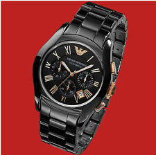 Emporio Armani AR1410 CERAMIC NEW BLACK WITH box