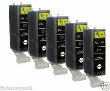 5 Printer Cartridges for Canon Pixma MP980 iP4600 PGI520 CLI521 Black