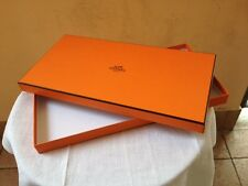 AUTHENTIC HERMES EMPTY BOX  CM. 36X18X2 W/ RIBBON CM. 0,90 - ORIGINAL SCATOLA