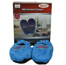 Blue Microwave Slipper Warm Feet Fleece Snuggle Boots Soft Microwaveable Cosy