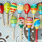 Hot Wooden Maraca Wood Rattles Musical Party Favor Child Baby Shaker Kid Toy OC