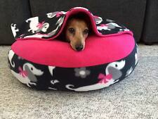 NEW Dachshund Small Dog Bed Snuggle Bed for Burrowing Dog New Cute Doxie Fleece
