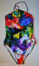 NWT $475 Ralph Lauren Collection Floral Lace Back One Piece Swimsuit Size 12
