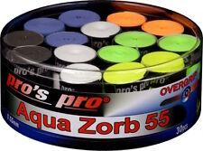 Pro's Pro Aqua Zorb 55 - 0.55mm - Box of 30 Overgrip Tennis - Badminton - Squash