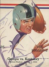 1946 GEORGIA BULLDOGS vs KENTUCKY WILDCATS NCAA Football Progam COVER ART ONLY