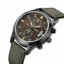 YISUYA Men's Sport Military Chronograph Calendar Waterproof Japeness Movement Ca