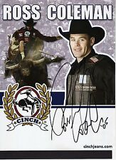 ROSS COLEMAN - Signed 11x8 Official Photograph - BULL RIDING