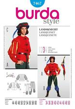 BURDA SEWING PATTERN Middle Age Guard LANSQUENET SIZES 34 - 50 INCH 7467