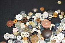 100+ Lot Vintage Antique Mother-of-Pearl Bakelit MOP Plastic Sewing BUTTON Craft