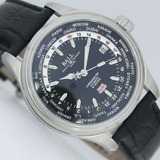 BALL TRAINMASTER WORLDTIME CHRONOMETER 41mm AUTOMATIC UHR Ref. GM2020D-LCJ-BK