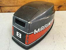 80 Mariner 8 Hp 2 Cylinder Outboard Hood Top Cowl Cowling Shroud Freshwater MN