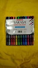 ZEBRA SARASA Super Fine Point Fineliner Pen 12 Vibrant Colors 0.8mm 670129