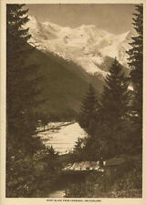 Print Mont Blanc Chamonix Switzerland 1913 Photogravure Mentor Vintage Photo