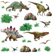 DINOSAURS 25 BiG Wall Stickers Realistic Room Decor Decals T-REX Triceratops RM3