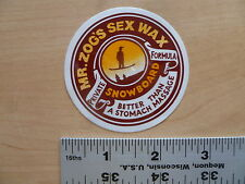 Sex Wax Snowboard Wax Brown Logo Sticker Decal