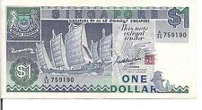 SINGAPORE, $1,P#18a, ND(1987)