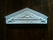 Exquisite Ornate miniature cherub door window decor plaque rubber latex mould