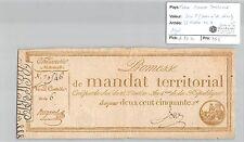 MANDAT TERRITORIAL - 250 FRANCS (AVEC LE N° DE SERIE) 28 VENTOSE AN 4 LOUE