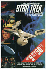 ♥♥♥♥ A CELEBRATION OF STAR TREK • Fantasy & SF Book Club Promotional Flyer •