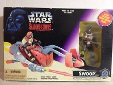 SWOOP SPEEDER BIK SWOOP TROOPER BOUNTY HUNTER CLONE WARS STAR WARS RARE HTF OOP