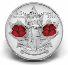 2010 25 cent Poppy Circulation Coin