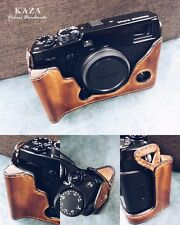 Fujifilm Xpro2 handgrip leather camera vintage brown half case and strap x-pro2