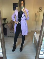 D&G Dolce and Gabbana Lilac Crop Sleeve Trench Coat Mac Small 8 10 Jacket